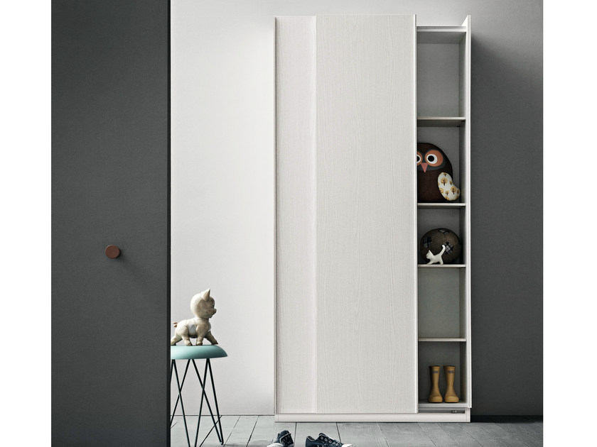 Wooden wardrobe with sliding doors SLIM | Wooden wardrobe by Birex