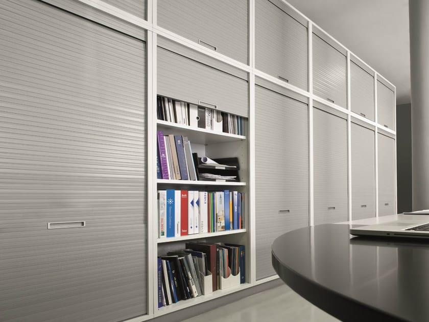 Mobile ufficio modulare con ante a serrandina xbox for Mobili a serrandina