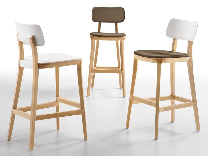 Counter stool with footrest PORTA VENEZIA | Counter stool - Infiniti