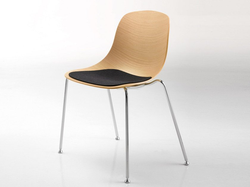 Multi-layer wood chair PURE LOOP | Multi-layer wood chair - Infiniti