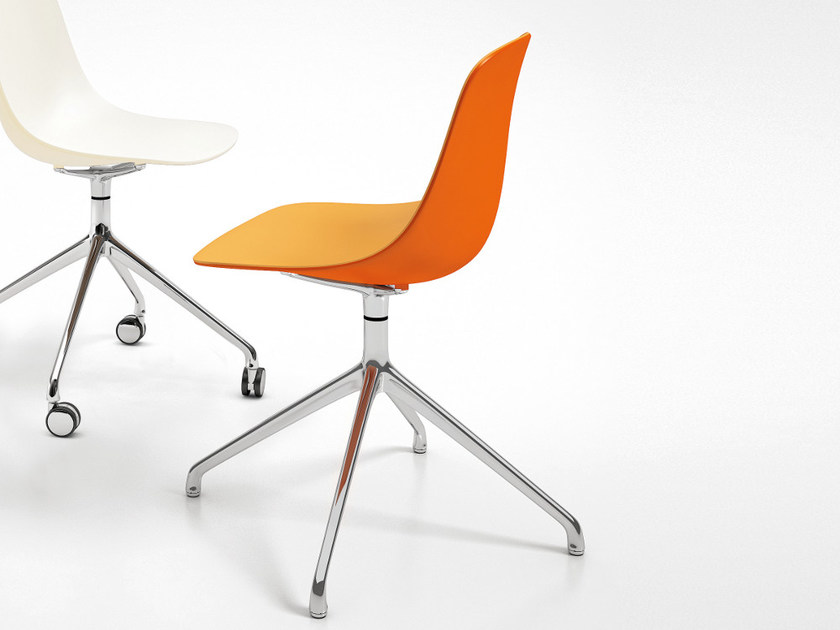 Trestle-based polypropylene chair PURE LOOP BINUANCE | Trestle-based chair - Infiniti