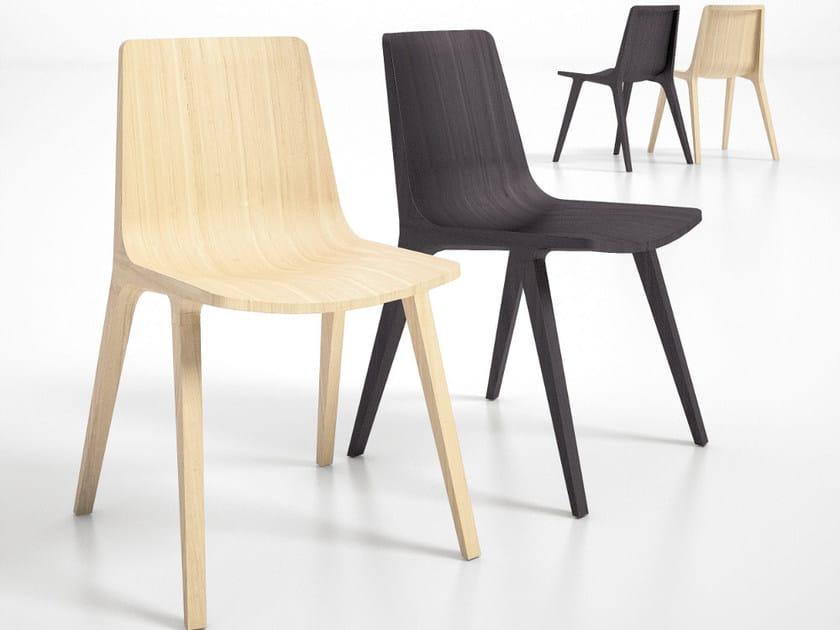 Multi-layer wood chair SEAME | Chair - Infiniti