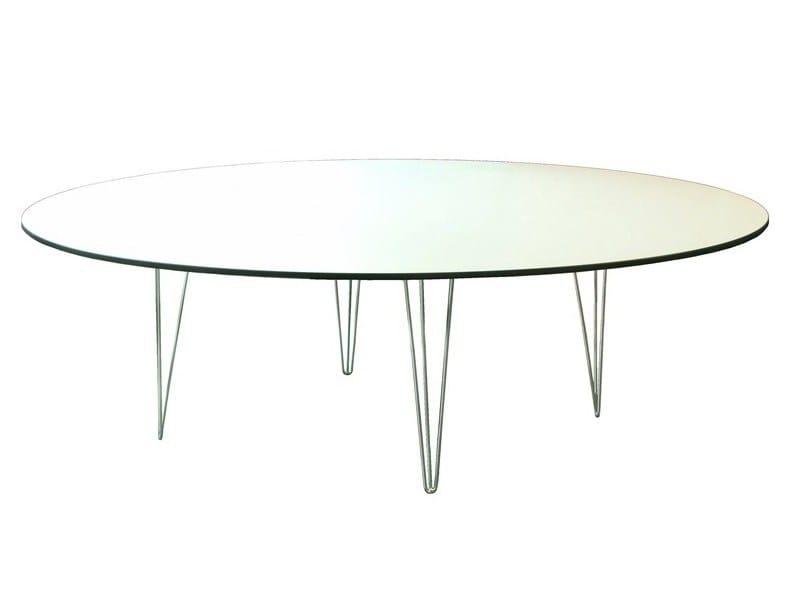 Round metal coffee table TRIO-4-H50-ITR   Coffee table - Vela Arredamenti