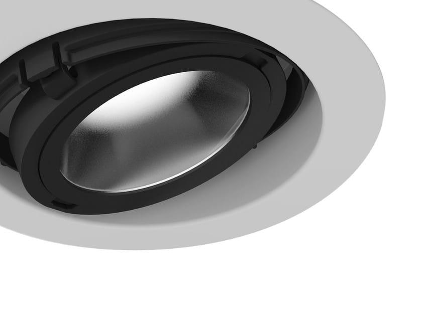LED adjustable recessed powder coated aluminium spotlight EYE | Recessed spotlight by Martinelli Luce