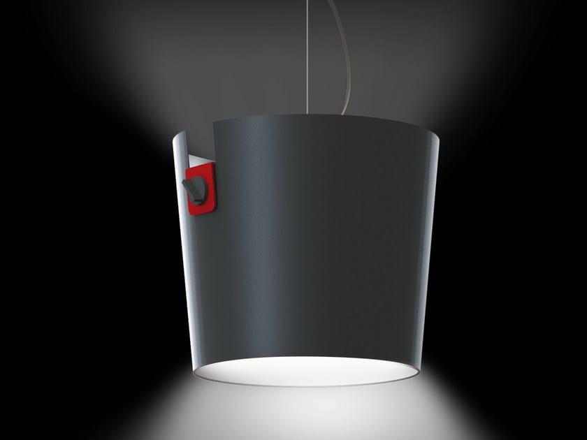 LED direct light aluminium pendant lamp ALBATROS - Martinelli Luce