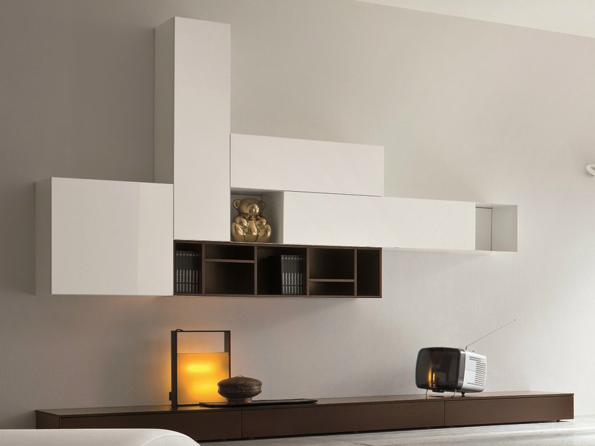 Sectional lacquered storage wall SLIM 7 - Dall'Agnese