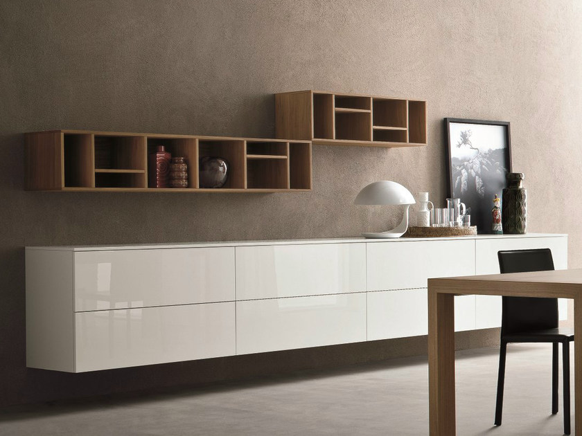 Lacquered suspended sideboard SLIM 15 - Dall'Agnese