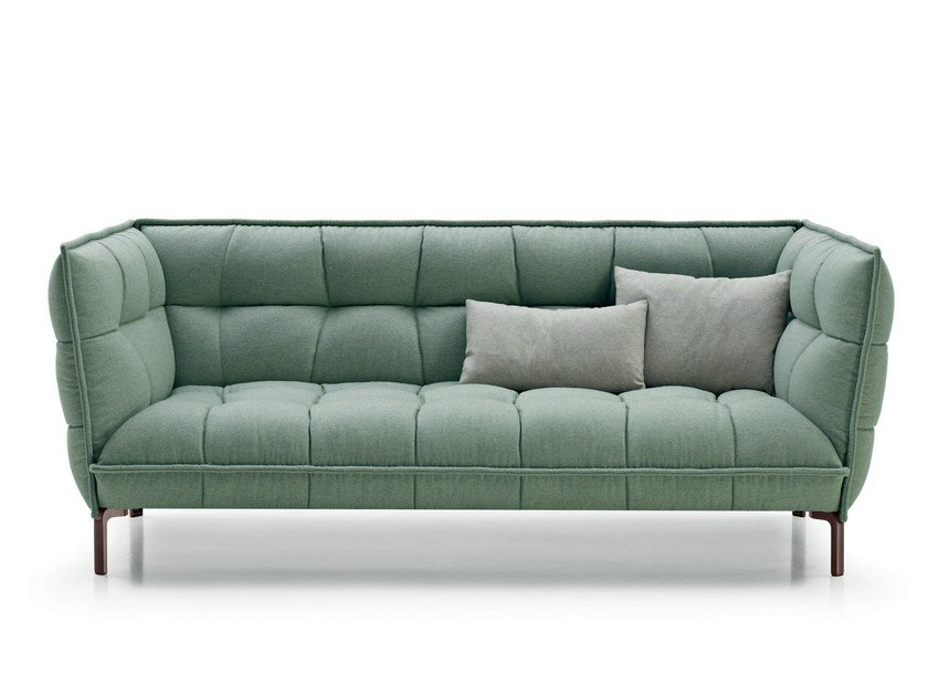 Tufted fabric sofa HUSK SOFA - B&B Italia