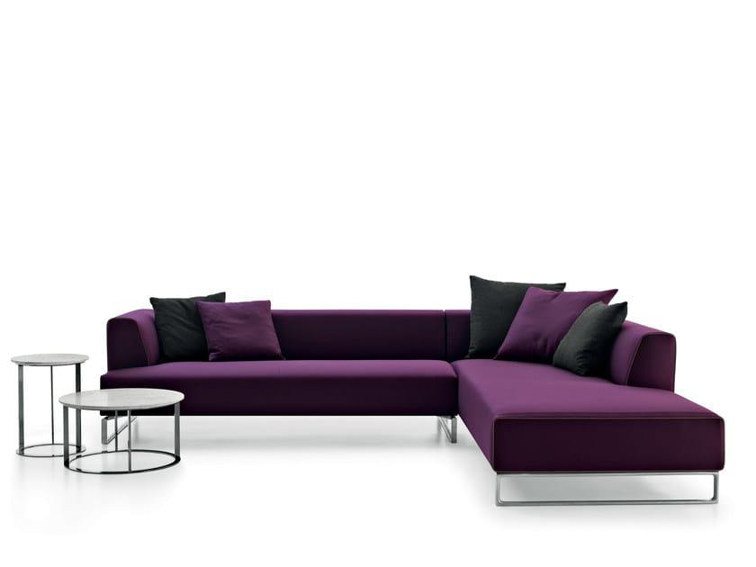 Divano angolare componibile in tessuto solo 39 14 divano angolare b b italia - Divano componibile angolare ...
