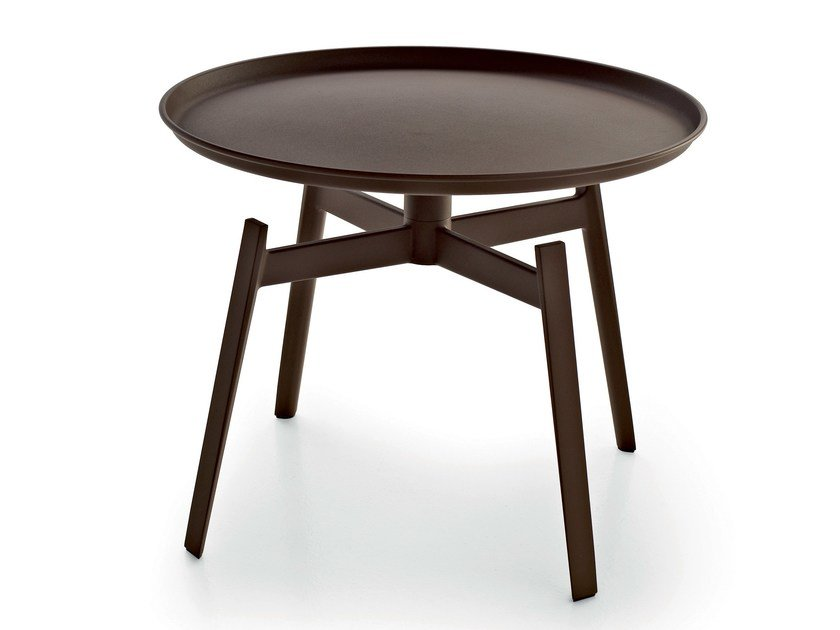 Round Corten™ garden side table HUSK OUTDOOR | Garden side table - B&B Italia Outdoor, a brand of B&B Italia Spa