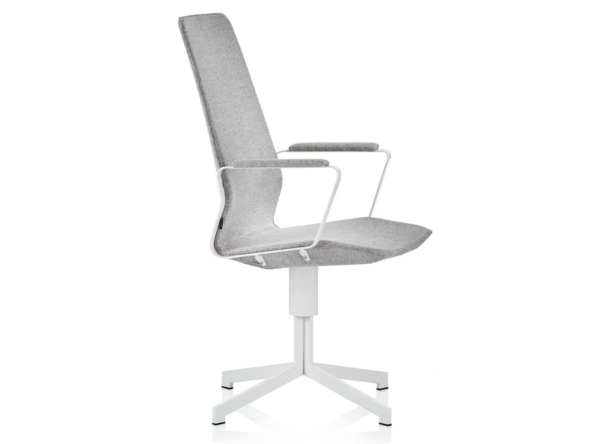 Executive chair with 4-spoke base with armrests PILOT HIGH | Executive chair with armrests - Johanson Design