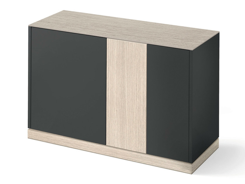 Lacquered sideboard with doors CONTOUR-125 by DOMITALIA