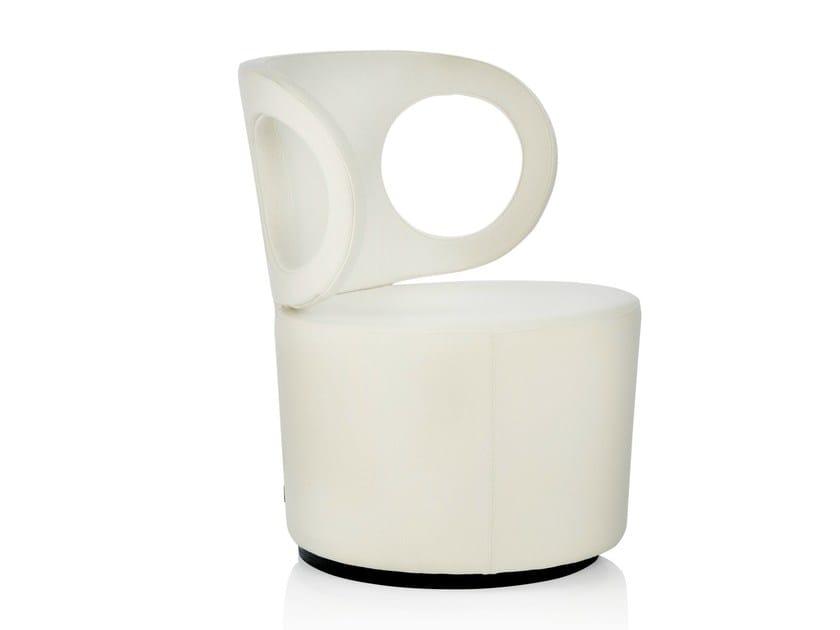 Upholstered fabric easy chair EYE LOUNGE - Johanson Design