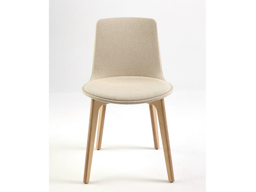 Contemporary style upholstered fabric chair LOTTUS WOOD | Upholstered chair - ENEA