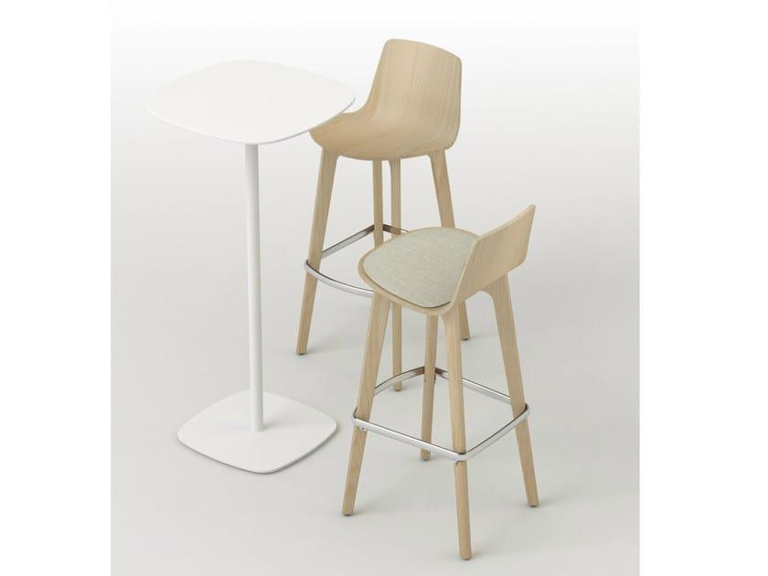 Birch counter stool LOTTUS WOOD | Birch chair - ENEA