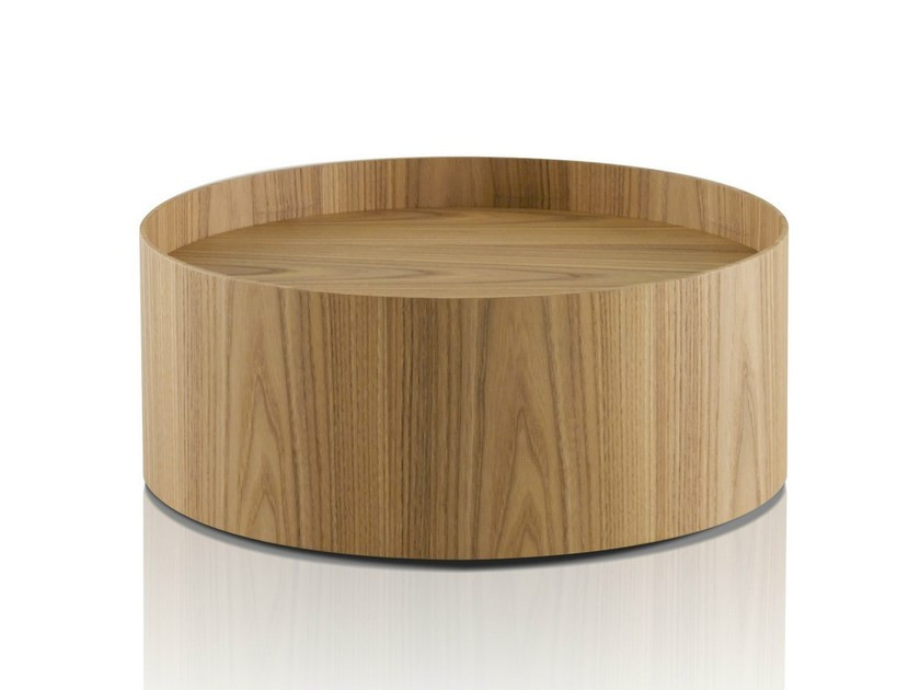 Round elm bedside table BUTLER by Porro