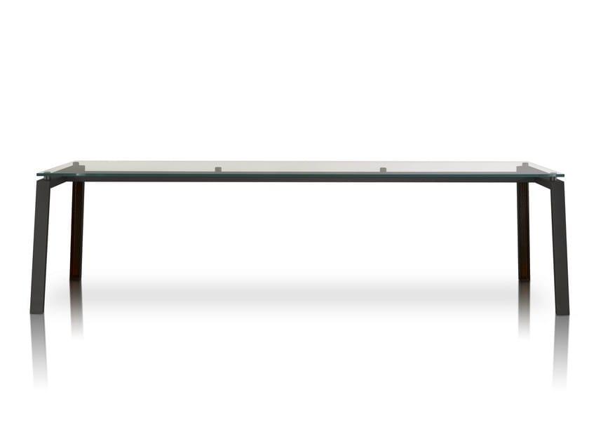 Rectangular glass and iron table IPE - Porro