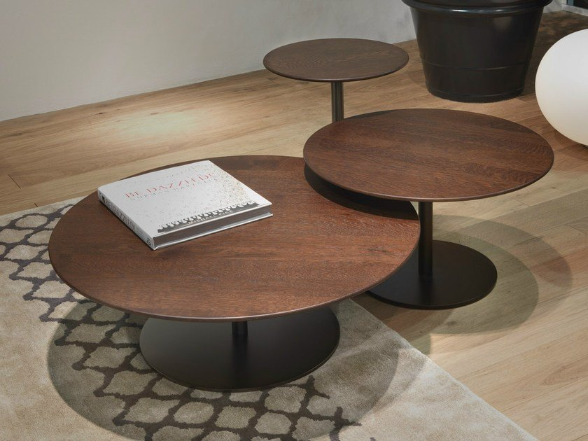 Breakfast wooden coffee table by giulio marelli italia - Tables basses design italien ...