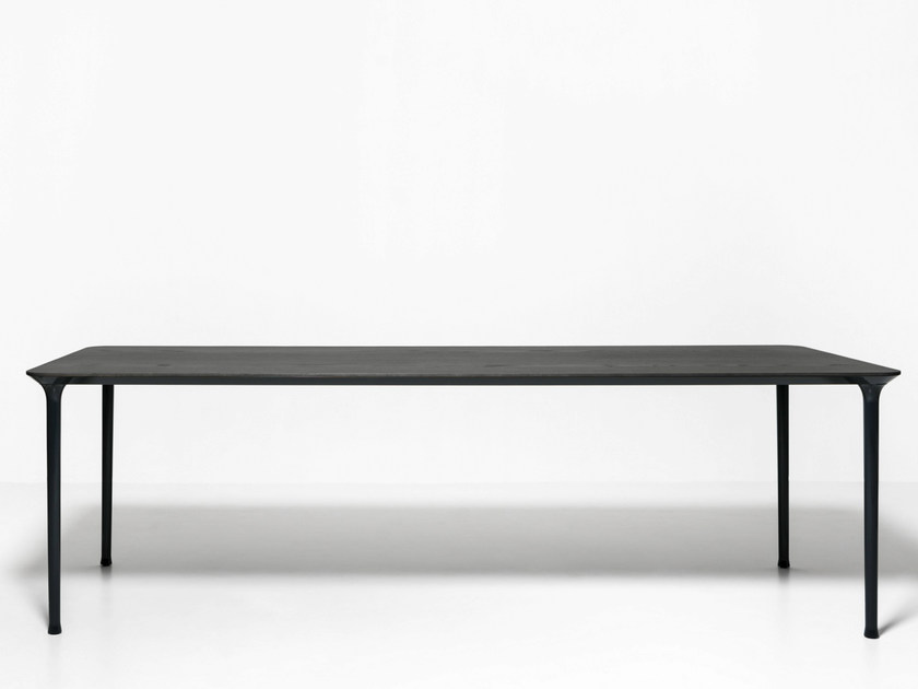 Stackable rectangular die cast aluminium table SPINDLE | Rectangular table - Tacchini Italia Forniture