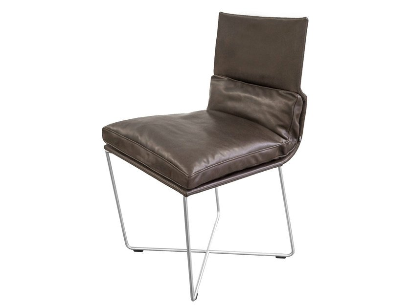 Upholstered leather chair D.S. | Leather chair - KFF