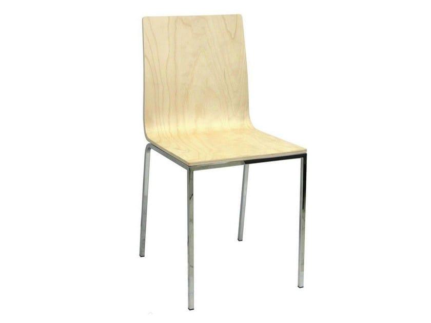 Stackable wooden restaurant chair VELA-V | Wooden chair by Vela Arredamenti