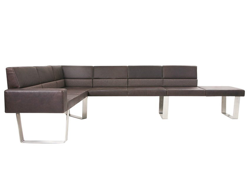 Modular leather bench BENCH PLUS by KFF