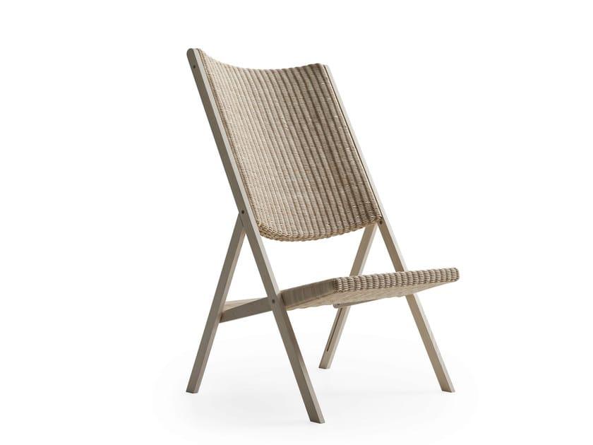 Folding woven wicker chair D.270.2 | Woven wicker chair - MOLTENI & C.