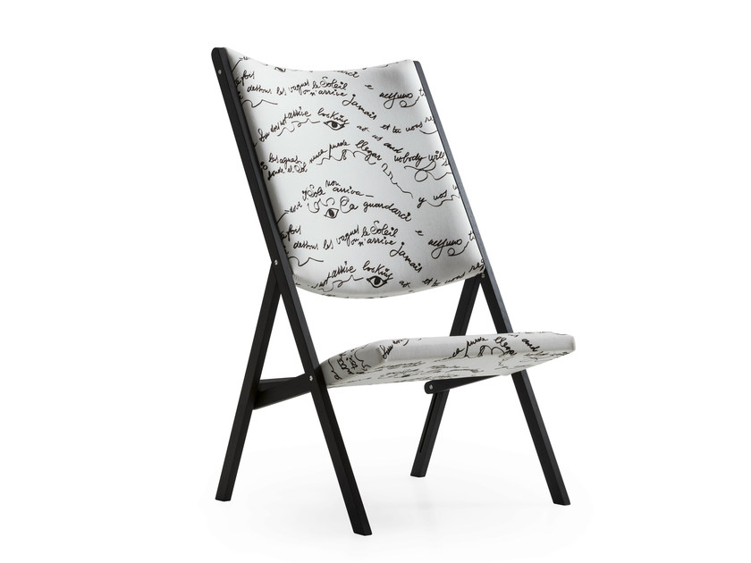Upholstered folding chair D.270.2 | Upholstered chair by Molteni