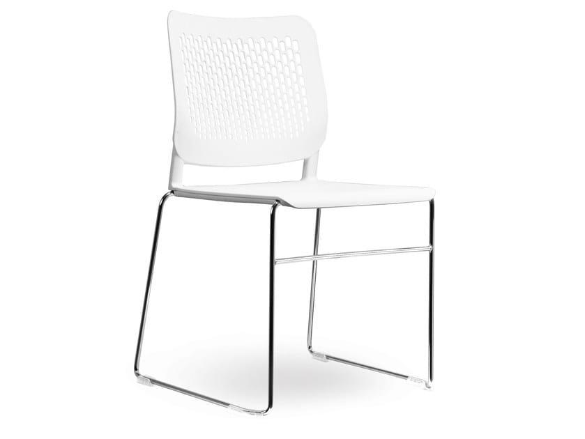 Stackable plastic restaurant chair COMETA-F - Vela Arredamenti
