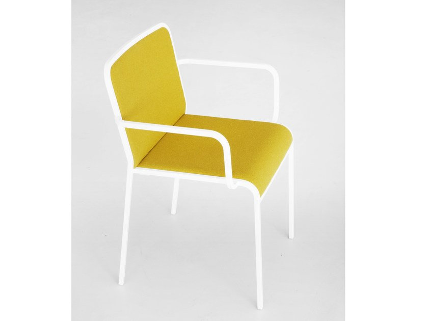Upholstered chair with armrests ARIA | Chair with armrests - Lapalma