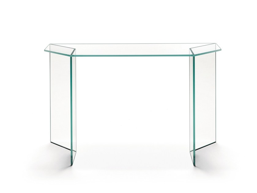 Glass console table MIRAGE | Console table - T.D. Tonelli Design