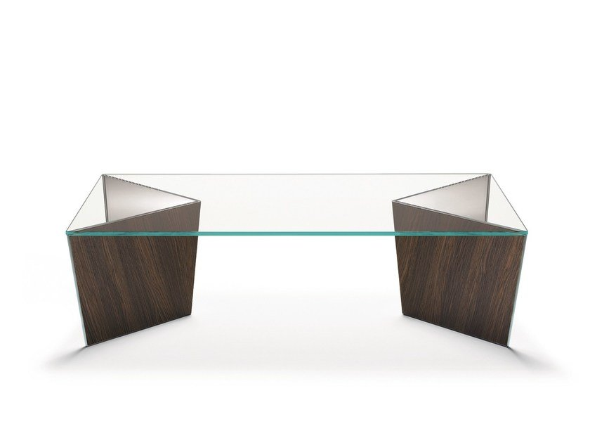 Low rectangular glass coffee table MIRAGE | Rectangular coffee table - T.D. Tonelli Design