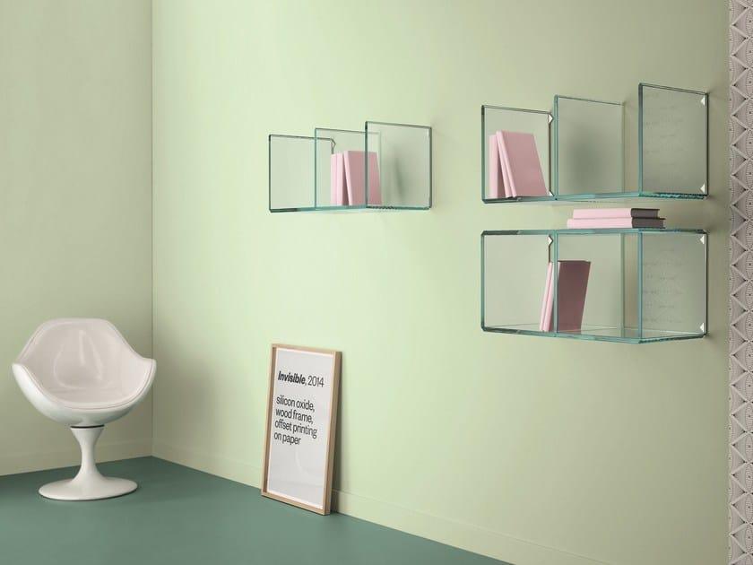 Glass wall shelf DIGIT | Wall shelf - T.D. Tonelli Design