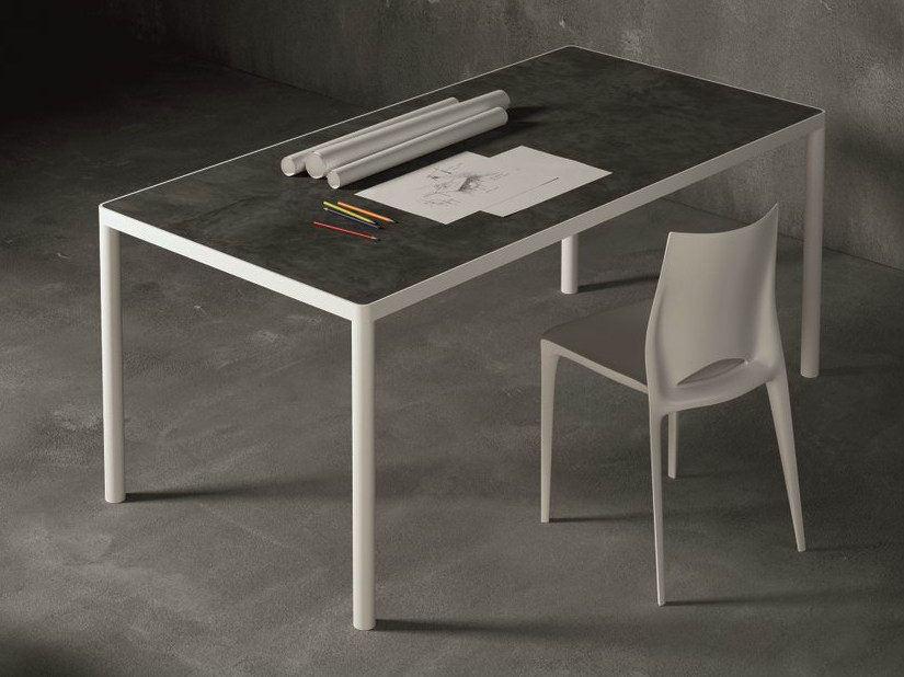 Rectangular metal table MAX | Rectangular table by Dall'Agnese