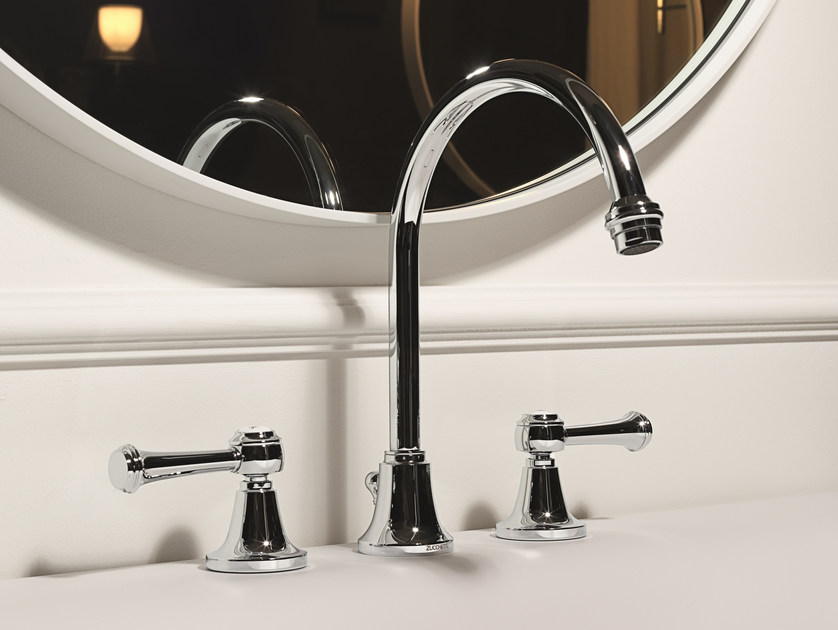 Classic style 3 hole washbasin tap AGORÀ CLASSIC | Chrome-plated washbasin tap by ZUCCHETTI