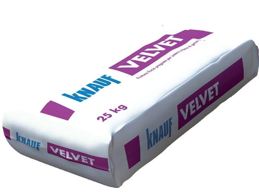 Gypsum plaster VELVET - Knauf Italia
