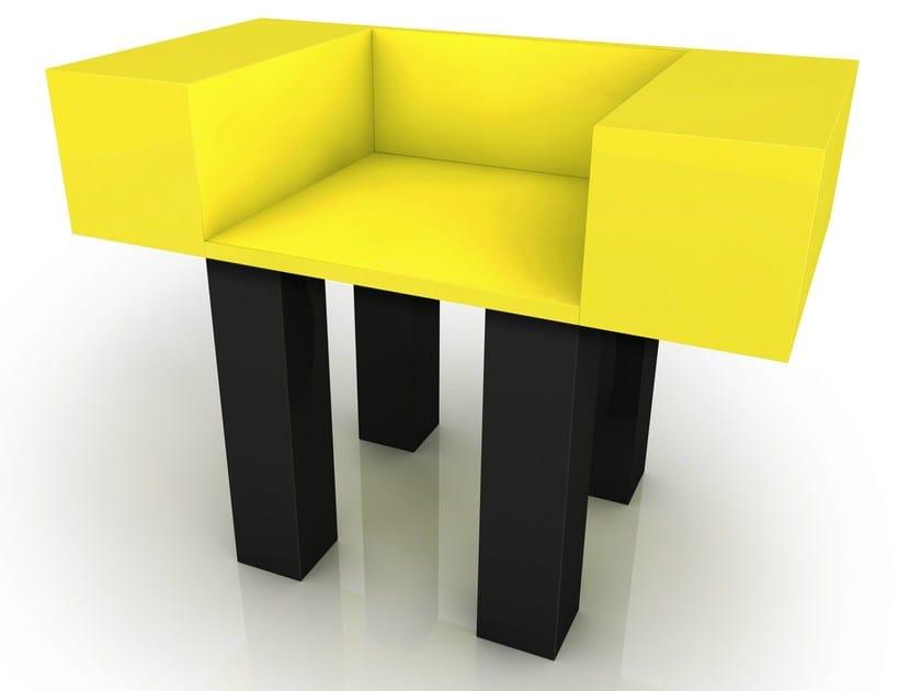Aluminium armchair with armrests FRANCIS - altreforme