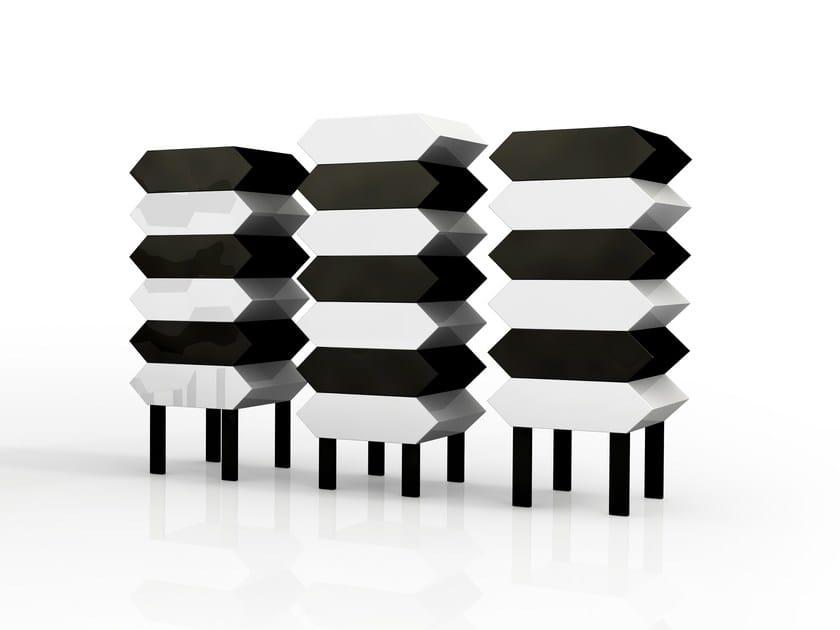 Cassettiera a terra componibile in alluminio kiki collezione festa mobile parigi anni venti by - Mobili anni venti ...