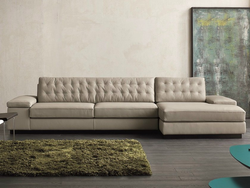 Sectional 3 seater leather sofa SUN - Dall'Agnese