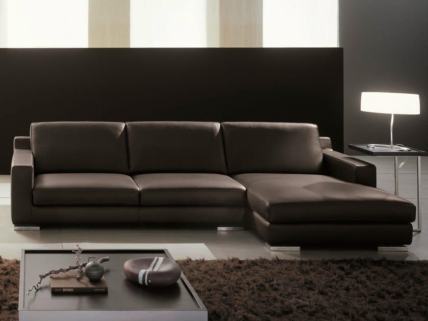 Sectional leather sofa OVIDIO | Leather sofa - Dall'Agnese