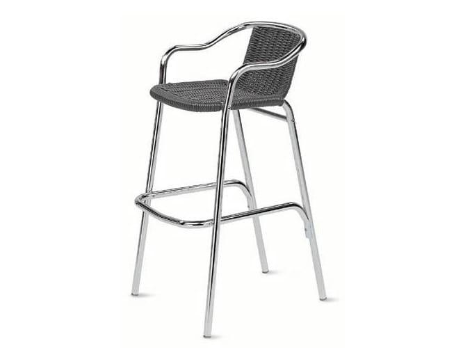 Chaise de bar avec repose pieds medula collection - Chaise avec repose pied ...