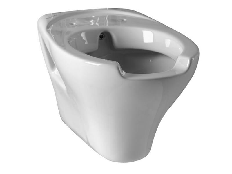 Wc per disabili sospeso in porcellana con bidet 130 wc for Vaso per disabili