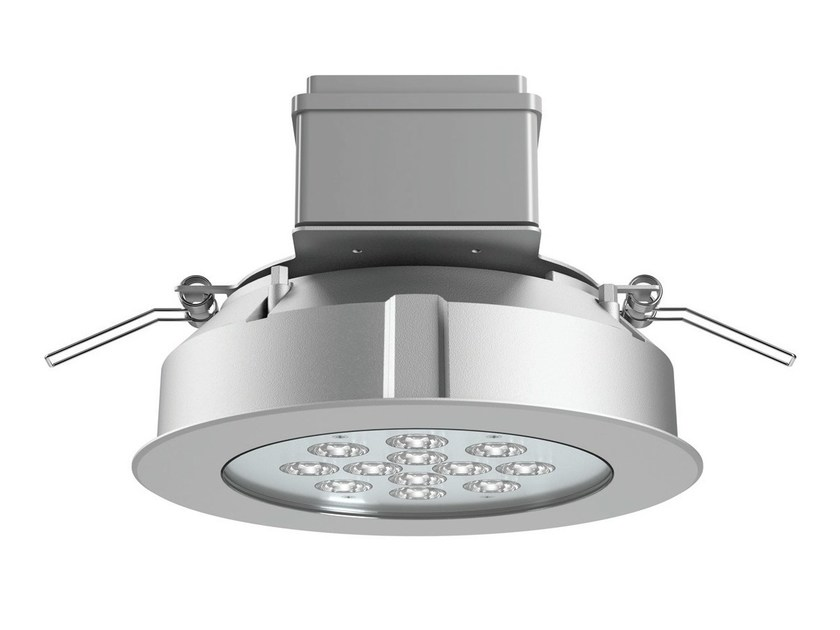 LED die cast aluminium Ceiling-Light OBLÒ - Platek