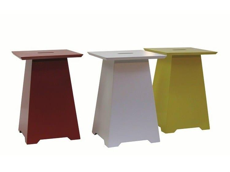 Low iron stool SGAB-BELLAGIO-S-RAL | Iron stool - Vela Arredamenti