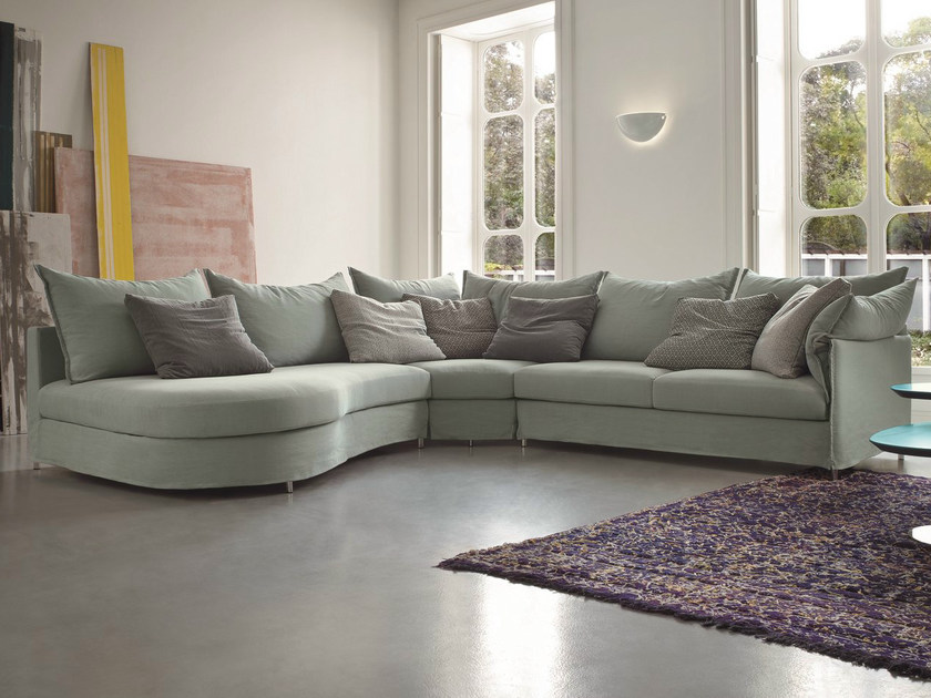 Corner fabric sofa with removable cover EVERY | Corner sofa - Dall'Agnese