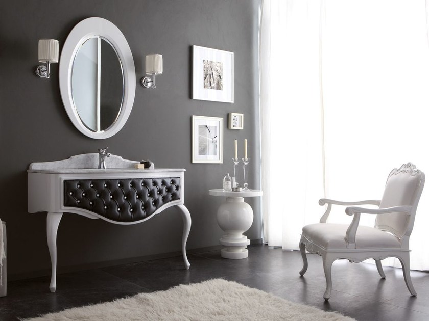 Tufted console sink with drawers GLAM 04 - LEGNOBAGNO