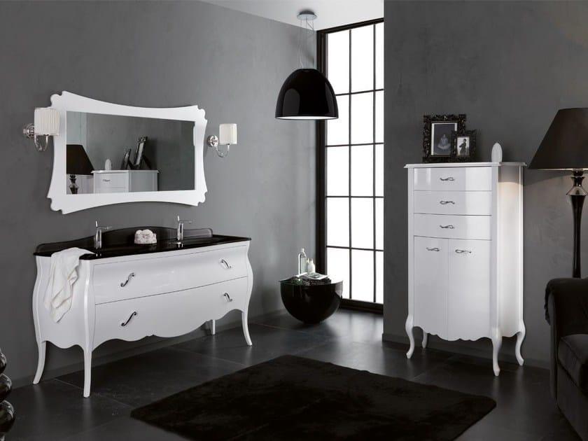 Double vanity unit with drawers VANITY DUETTO 03 - LEGNOBAGNO