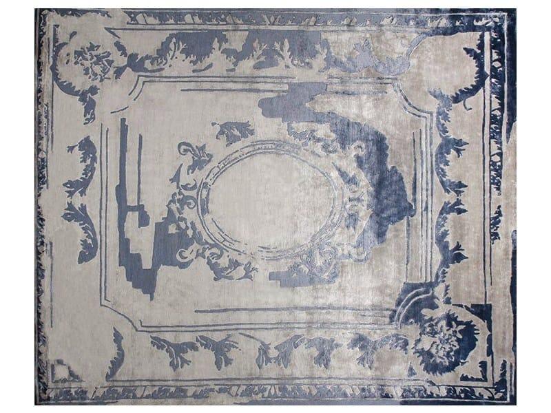 Handmade custom rug FONTENAY NEW AGE NAVY - EDITION BOUGAINVILLE