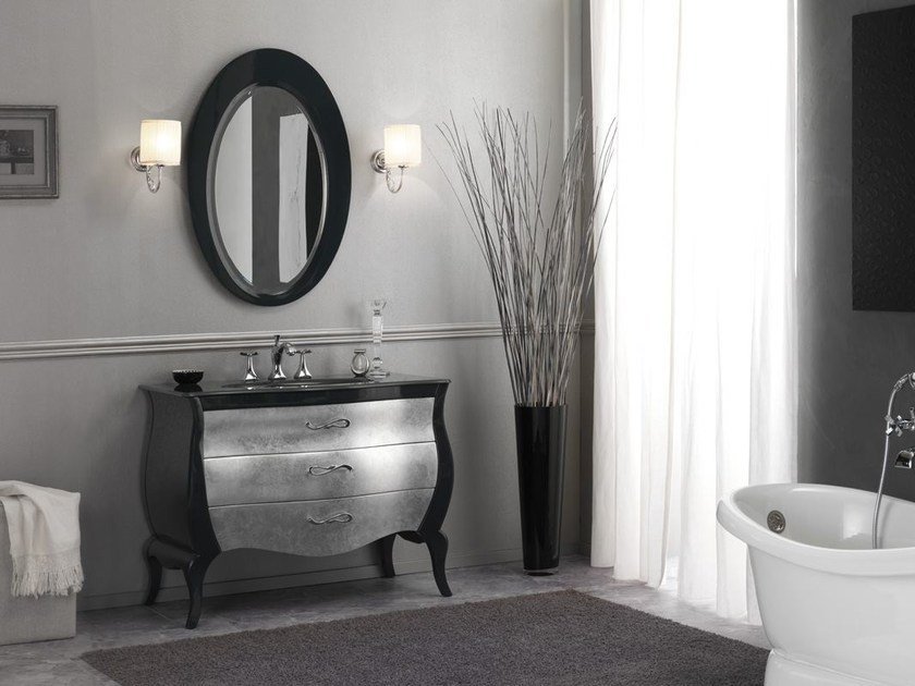 Lacquered vanity unit with drawers VINTAGE 02 - LEGNOBAGNO