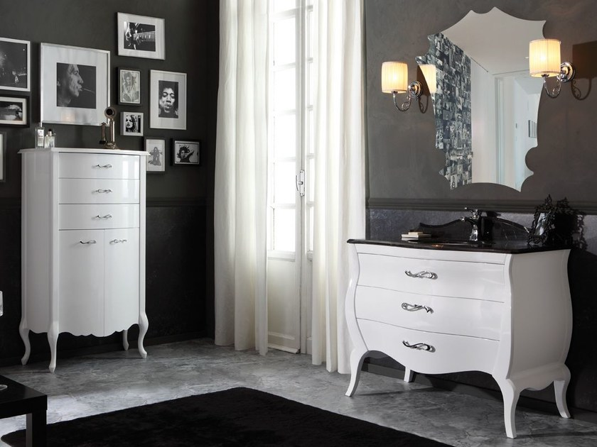 Lacquered vanity unit with drawers VINTAGE 03 by LEGNOBAGNO